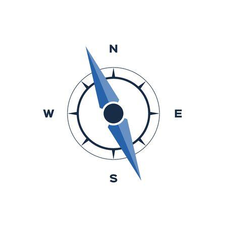 wind rose: Wind rose, compass icon Illustration