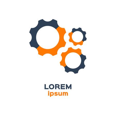 mecanica industrial: Icono del engranaje, logotipo