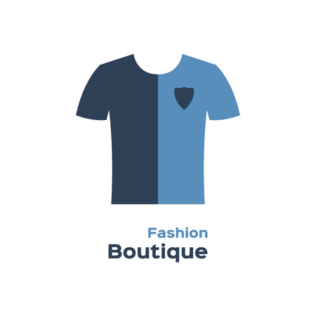 Fashion boutique logo, t-shirt silhouette Иллюстрация