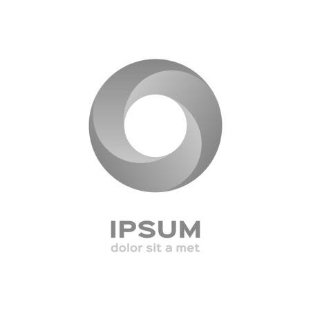 silver circle: Business logo, silver circle icon Illustration