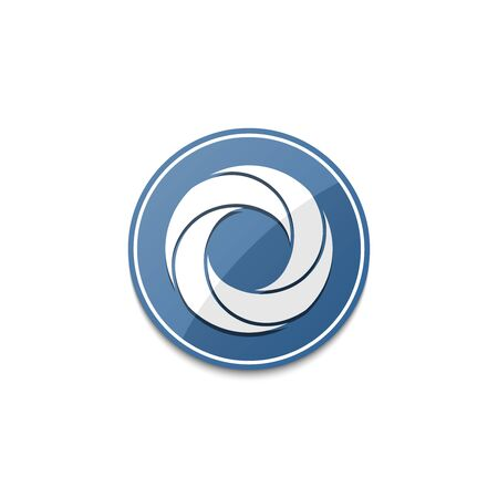 blue circle: Blue circle icon with shadow