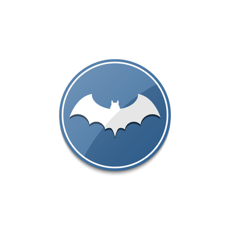terrify: Blue bat icon with shadow
