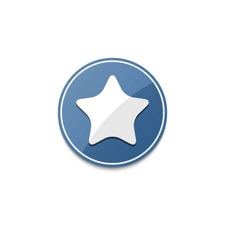 estrella azul: Blue star icon with shadow