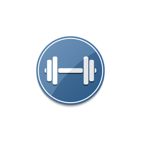 circular muscle: Blue dumbbell icon with shadow