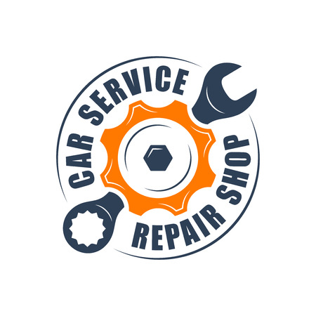 supplier: Auto service , wrench and gear silhouette
