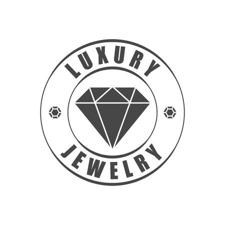 Jewelry logotype, diamond silhouette
