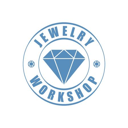 Jewelry logotype, diamond silhouette 版權商用圖片 - 56952020