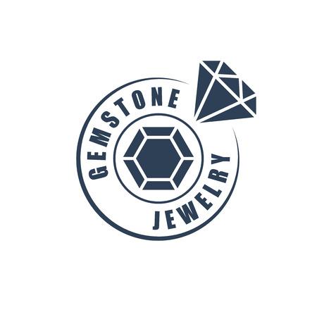 Jewelry  logotype, diamond silhouette 向量圖像