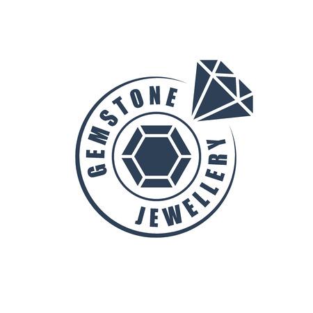 jeweller: Jewellery logotype, diamond silhouette Illustration
