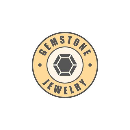logotype: Jewelry logotype, diamond silhouette