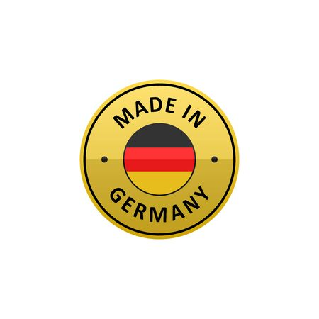 hallmark: Round Made in Germany label with German flag