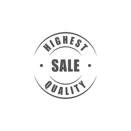 highest: Highest quality sale round label