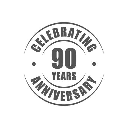 celebrating: 90 years celebrating anniversary logo Illustration
