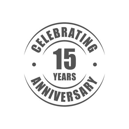 15 ans célébrant logo anniversaire Banque d'images - 64660574