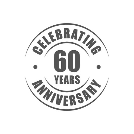 60: 60 years celebrating anniversary logo