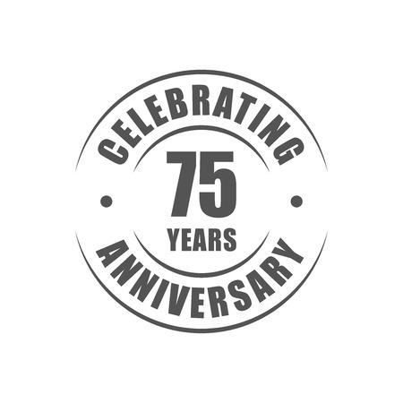 75 ans célébrant logo anniversaire Banque d'images - 64660577