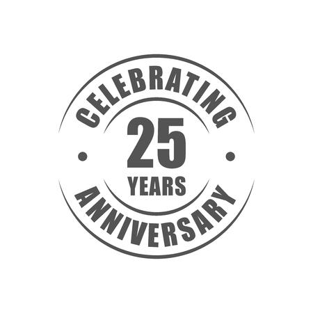 25 years celebrating anniversary logo