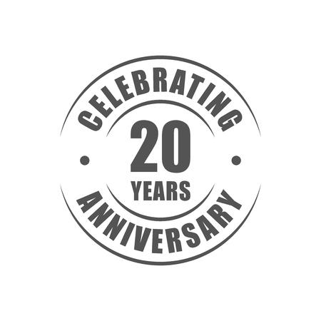 20 years celebrating anniversary logo Vettoriali