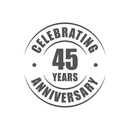 45th: 45 years celebrating anniversary logo