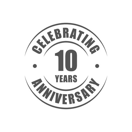 10: 10 years celebrating anniversary logo Illustration