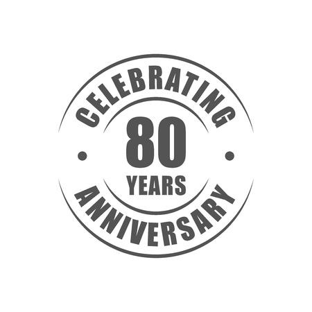 80 years: 80 years celebrating anniversary logo