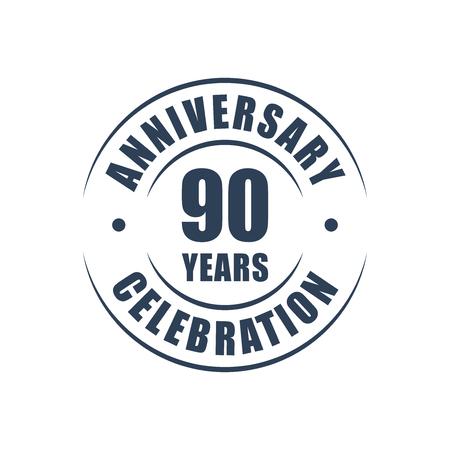 90th: 90 years anniversary celebration logo