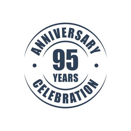 95: 95 years anniversary celebration logo