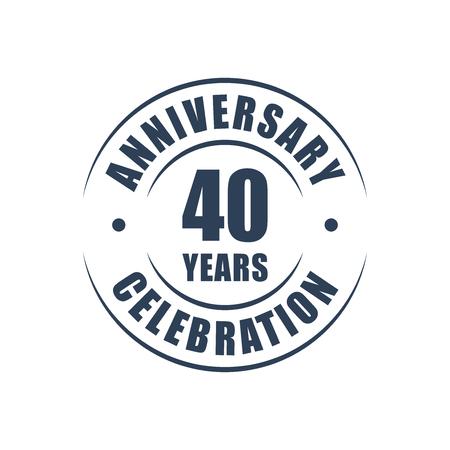 40 years: 40 years anniversary celebration logo