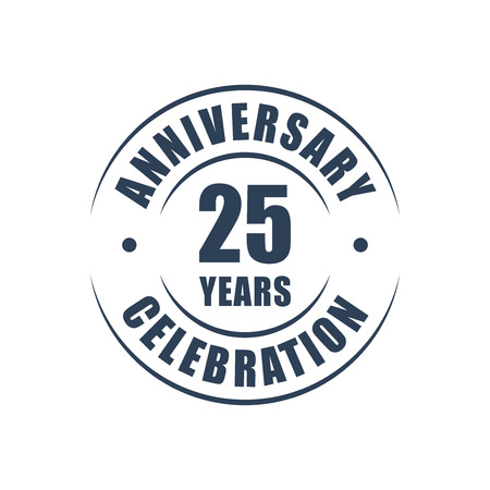 25 years anniversary celebration logo