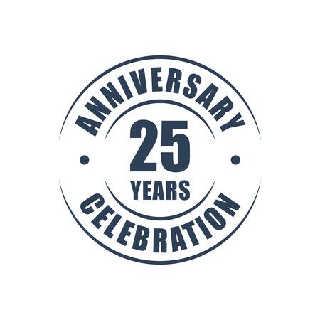 25 years anniversary celebration logo
