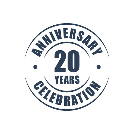 20 years anniversary celebration logo