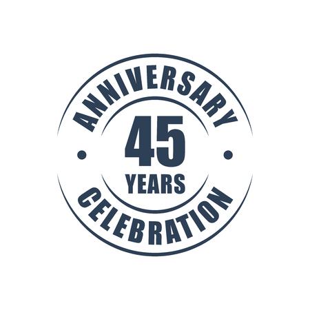 45th: 45 years anniversary celebration logo