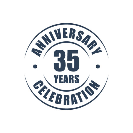 35th: 35 years anniversary celebration logo