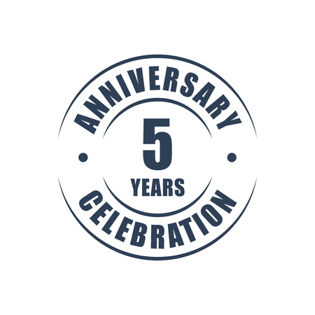 5 years anniversary celebration logo  イラスト・ベクター素材