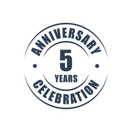 5 jaar jubileum viering logo Stock Illustratie