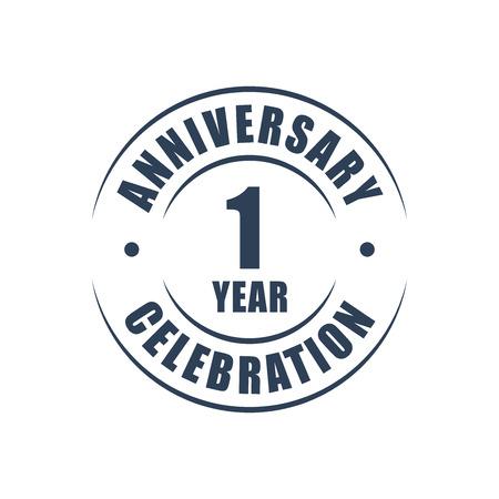 1 year: 1 year anniversary celebration logo
