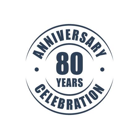 80 years: 80 years anniversary celebration logo