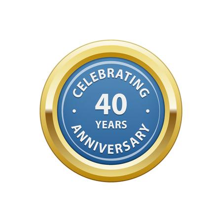40 years: Celebrating anniversary 40 years badge