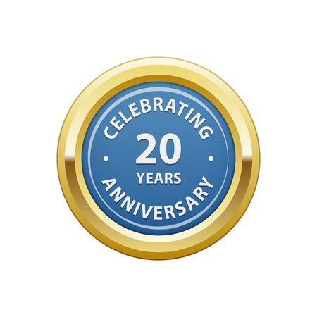 Celebrating anniversary 20 years badge Ilustração