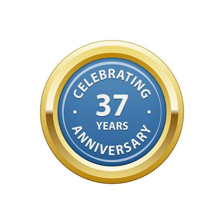 Celebrating anniversary 37 years badge