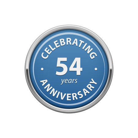 54: Celebrating anniversary 54 years badge Illustration