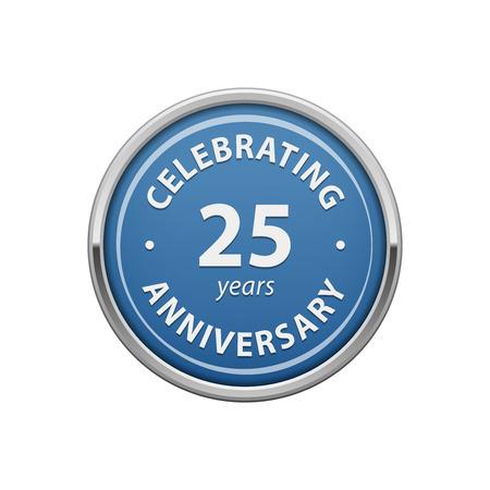 Celebrating anniversary 25 years badge