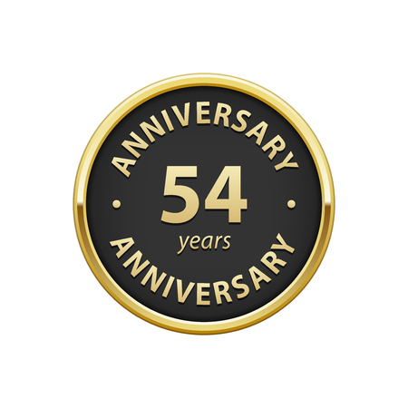 54: Anniversary 54 years badge