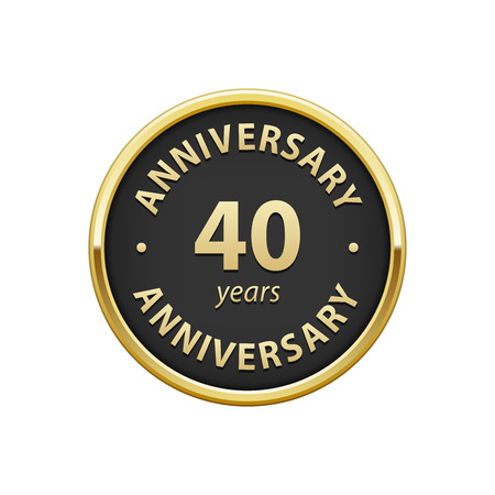 40: Anniversary 40 years badge