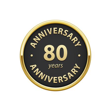 80 years: Anniversary 80 years badge