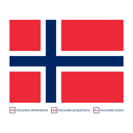 carefully: Flag of Norway,  carefully made using official proportions,  dimensions and colors