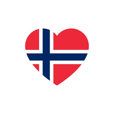 Vlag van Noorwegen hart silhouet.