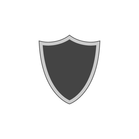 Shield silhouette, logo, icon