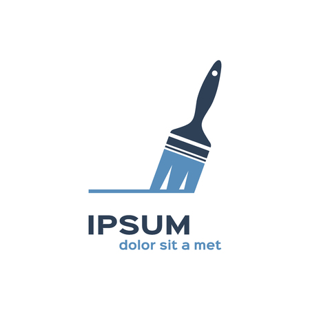 Paint brush icon logo