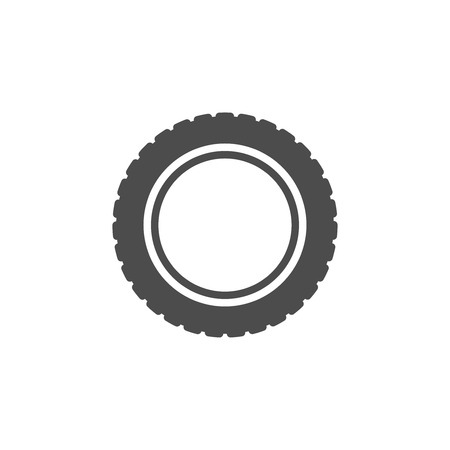 A car tire icon on white background.